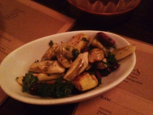 The Wood-Smoked Artichokes with Lemon and Olives