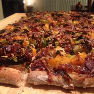 Butternut Brussels Bacon Pizza 1