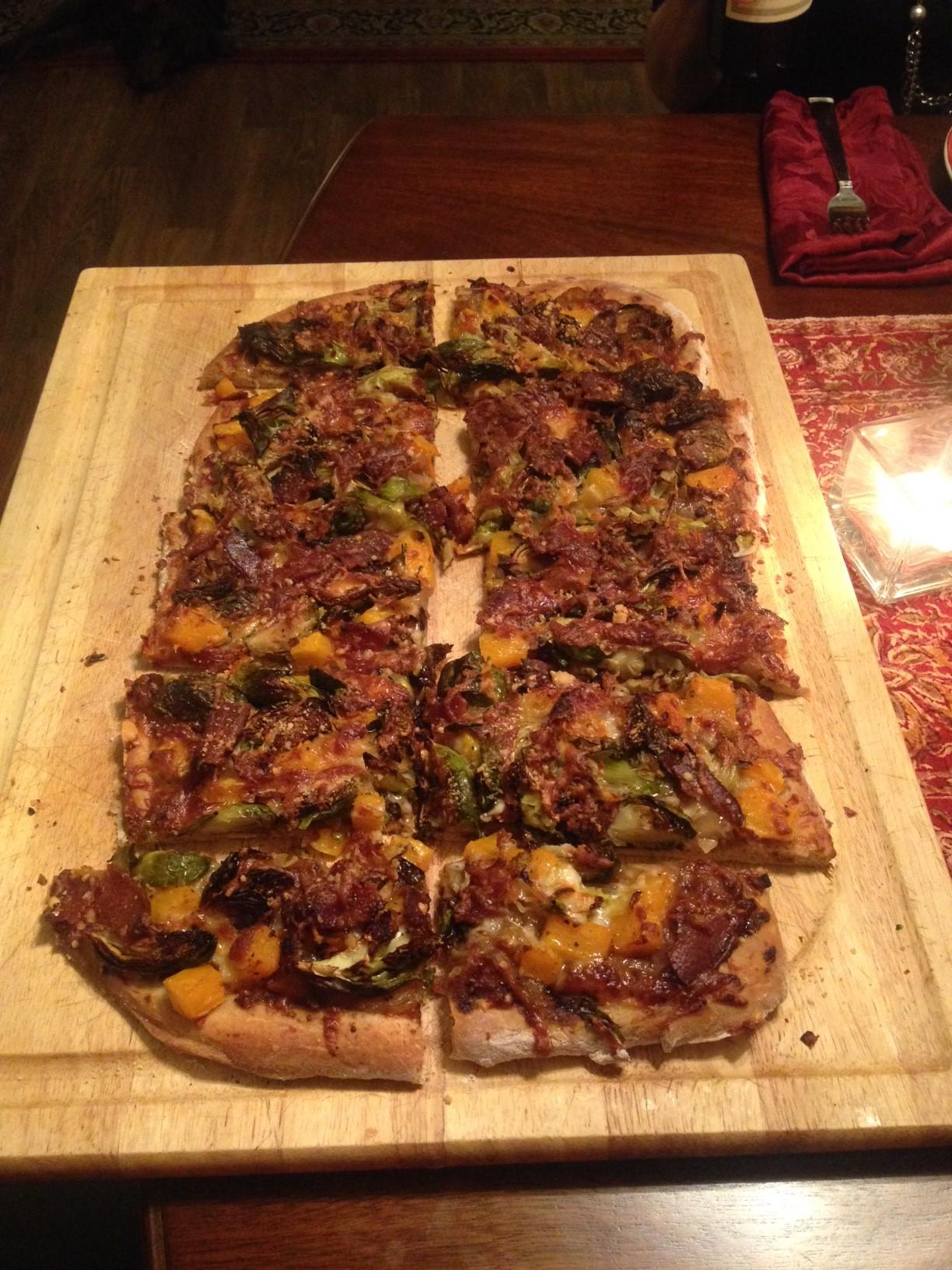 Butternut Brussels Bacon Pizza 2