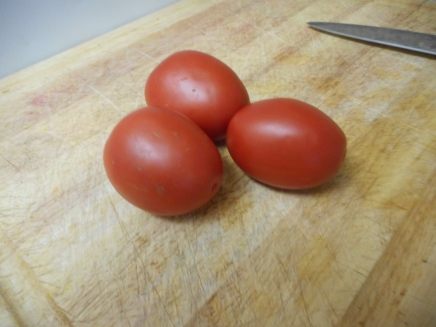 Choose some beautiful Roma tomatoes....