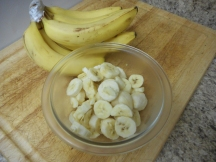 Chop bananas and freeze....