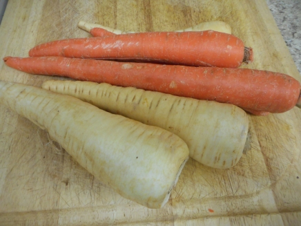 Beautiful parsnips and carrots! Go big!