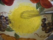 Mix it till it creates a thick, yellow cream....