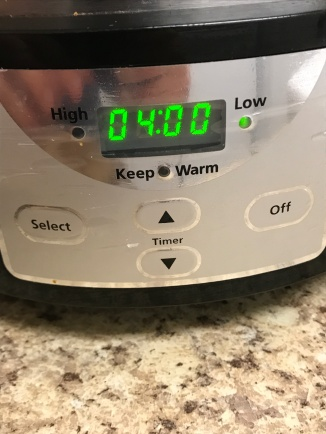 Cook on low for 4 hours or on high for 2 hours....