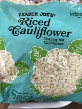 You can make your own cauliflower rice, but really...